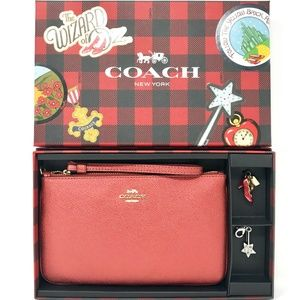 COACH Boxed Wizard of OZ  Large Wristlet w/Charms
